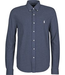 overhemd lange mouw polo ralph lauren chemise ajustee imprimee col boutonne en polo featherweight logo