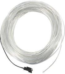 partido del coche de 20m suave flexible led luz de neón del resplandor de la lámpara el bandas para tubos cuerda de alambre - azul claro