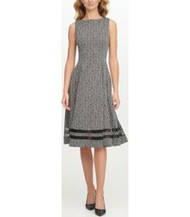 calvin klein plus size zig-zag illusion-inset dress