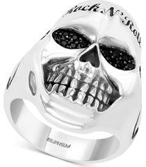 effy men's black spinel rock n' roll statement ring in sterling silver