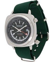 briston watches clubmaster worldtime 42mm watch - green