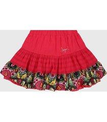 falda fucsia-multicolor desigual