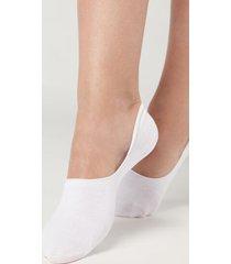 calzedonia unisex cotton invisible socks woman white size 46-47