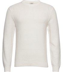sweaters stickad tröja m. rund krage vit edc by esprit