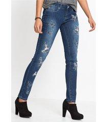 skinny jeans met borduursel