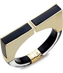 goldplated lucite hinge bracelet