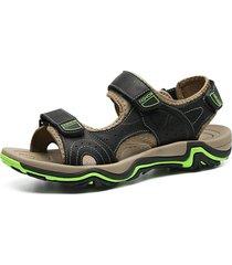 sandali casuali con chiusura a scatto gancio color block da uomo