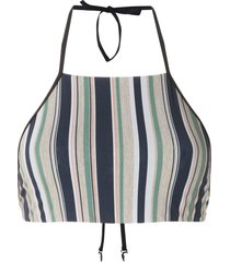 track & field horizonte cropped bikini top - multicolour