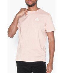 kappa t-shirt s/s auth wollie t-shirts & linnen rosa
