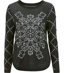 tröja flat knit thick gaiget pullover