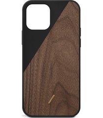clic wooden iphone 12 pro max case - black