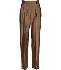 chet, 847 tailoring pantalon met rechte pijpen stine goya