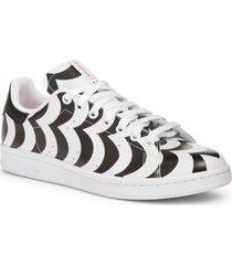 women's adidas x marimekko stan smith low top sneaker, size 9 m - black