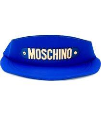 moschino baseball cap shoulder bag - blue