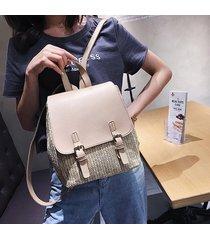 mochila de mujer/ kawaii mini mochila escolar mujer-blanco