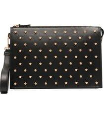 versace medusa stud clutch bag - black