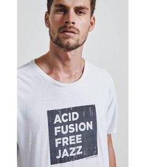 t-shirt aid jazz masculina - masculino