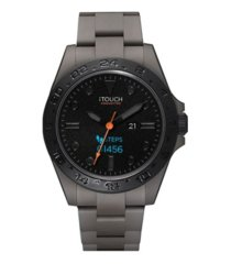 connected men's hybrid smartwatch fitness tracker: gray case with gray acrylic strap 42mm