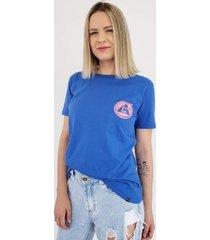 t-shirt aero jeans azul bic - azul/azul marinho/multicolorido - feminino - algodã£o - dafiti