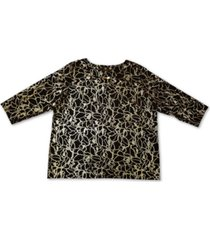 jm collection plus size printed jacquard top, created for macy's