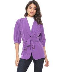 blazer colcci acinturado lilás
