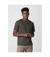 camiseta hering básica manga curta masculina em malha de algodão masculina