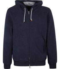 brunello cucinelli plain zip hooded sweatshirt