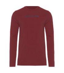 camiseta masculina logo básico - vermelho