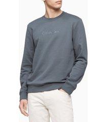 calvin klein men's terry logo crewneck sweatshirt
