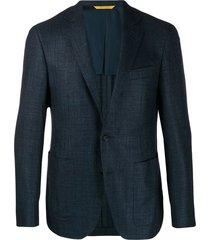 canali woven suit jacket - blue