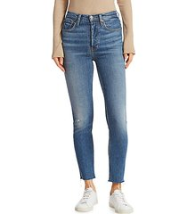 comfort stretch high-rise skinny ankle jeans