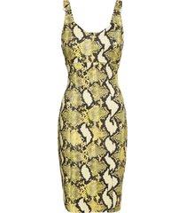 abito pitonato (giallo) - bodyflirt boutique