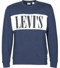 sweater levis logo colorblock crew