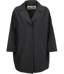 black technical fabric coat