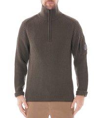 c.p. company turtle neck sweatshirt  olive  155a-5292a 670