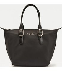 cartera recycled nylon tote negro tommy hilfiger