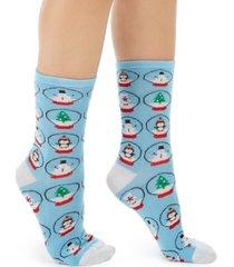charter club women's snowglobes crew socks, created for macy's