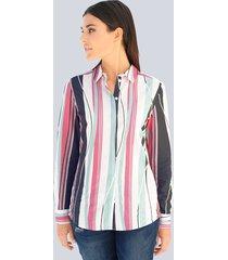 blouse alba moda wit::koraal::salie::marine