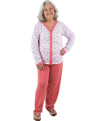 pijama linha noite longo goiaba