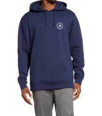 men's vans old skool circle logo hooded sweatshirt
