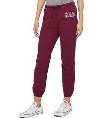 pantalón violeta-blanco gap