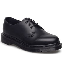 1461 mono black smooth shoes business laced shoes svart dr. martens