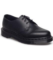 1461 mono black smooth snörade skor låga svart dr. martens
