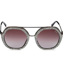 53mm round embellished sunglasses