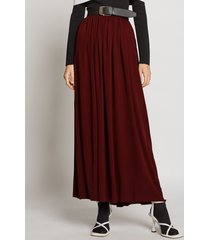 proenza schouler belted jersey skirt cinnamon/brown 10