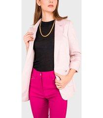 blazer  ash mil rayas rosa - calce regular
