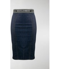 dolce & gabbana denim pencil skirt