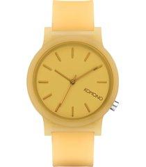 reloj analogo mono ochre amarillo komono