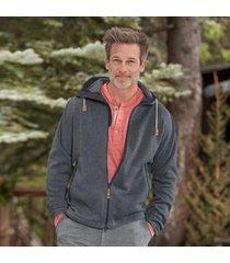 sundance catalog men's ovik fleece hoodie in dark gray xl