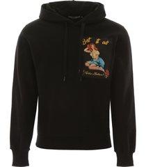 dolce & gabbana pin-up print hoodie
